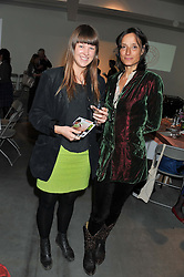 Left to right, INDIA WINDSOR-CLIVE and The MARCHIONESS OF WORCESTER at the ASAP (African Solutions to African Problems) Lunch held at the Louise T Blouin Foundation, 3 Olaf Street, London W11 on 15th May 2012.