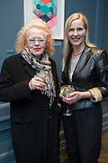 NO FEE PICTURES<br /> 12/4/18 Noelle Campbell Sharp and Suzy O'Mullane at the launch of Jenny Huston and Leah Hewson's jewellery and fine art collaboration, Edge Only x Leah Hewson at The Dean Dublin. Arthur Carron
