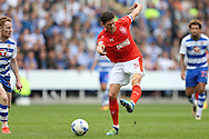 Mark Hudson, the Huddersfield Town captain taking a shot at goal . EFL Skybet  championship match, Reading  v Huddersfield Town at The Madejski Stadium in Reading, Berkshire on Saturday 24th September 2016.<br /> pic by John Patrick Fletcher, Andrew Orchard sports photography.