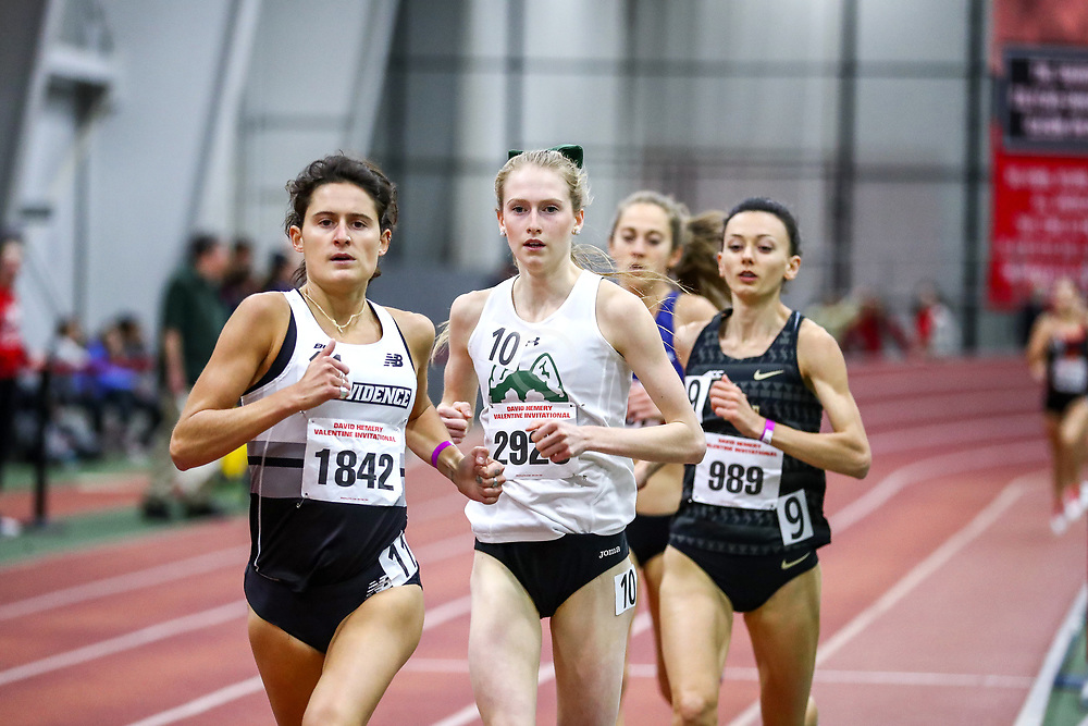 David Hemery Valentine Invitational<br /> Indoor Track & Field at Boston University , womens 3000 meters, heat 1,  , Brianna Ilarda, Providence, Hufsmith,