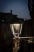 """Streetlight cobweb, Girona, Catalonia, Spain This mage can be licensed via Millennium Images. Contact me for more details, or email mail@milim.com For prints, contact me, or click """"add to cart"""" to some standard print options."""