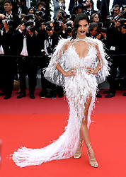 Sara Sampaio attending the Solo: A Star Wars Story premiere at the 71st Cannes Film Festival