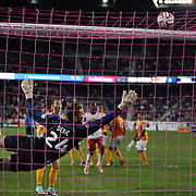 Goalkeeper Tyler Deric, Houston Dynamo, dives towards a Thierry Henry, New York Red Bulls, free kick which hit the bar during the New York Red Bulls Vs Houston Dynamo, Major League Soccer regular season match at Red Bull Arena, Harrison, New Jersey. USA. 4th October 2014. Photo Tim Clayton