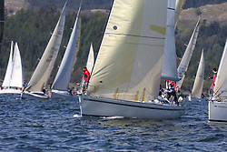 The Clyde Cruising Club's Scottish Series held on Loch Fyne by Tarbert. Day 2 racing in a perfect southerly<br /> GBR9963 , First By Farr , Ian McNair , CCC , First 45F5.