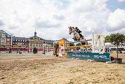 REINACHER Greta (GER), Claudius R<br /> Münster - Turnier der Sieger 2019<br /> Preis des EINRICHTUNGSHAUS OSTERMANN, WITTEN<br /> CSI4* - Int. Jumping competition  (1.45 m) - <br /> 1. Qualifikation Mittlere Tour<br /> Medium Tour<br /> 02. August 2019<br /> © www.sportfotos-lafrentz.de/Stefan Lafrentz