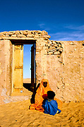 A woman and her child, Chinguetti, Mauritania.