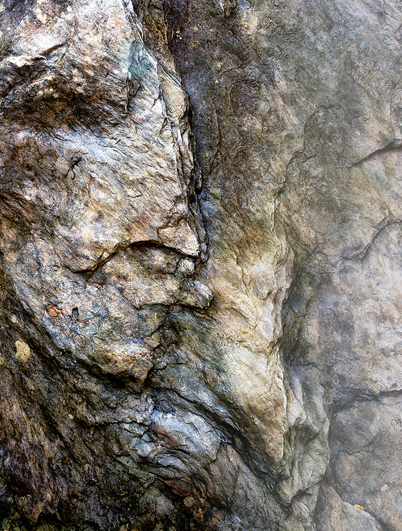 A natural relief on a rock face.