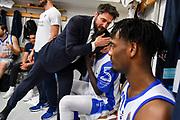 Gianmarco Pozzecco, Ousmane Diop<br /> AX Armani Exchange Olimpia Milano - Banco di Sardegna Dinamo Sassari<br /> LBA Serie A Postemobile 2018-2019 Playoff Semifinale Gara 2<br /> Milano, 31/05/2019<br /> Foto L.Canu / Ciamillo-Castoria