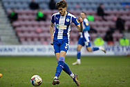 Wigan Athletic defender Tom Pearce (3) during the EFL Sky Bet League 1 match between Wigan Athletic and Fleetwood Town at the DW Stadium, Wigan, England on 23 January 2021.