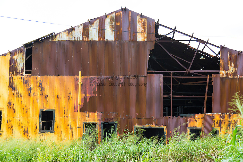 An abandoned sugar mill in the village of Pahala in the district of Ka'u on the Big Island of Hawaii, USA, America