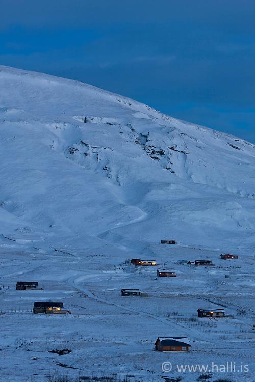 Summer houses at Sydri Bru, Grimsnes, Iceland - Sumarhúsahverfi að Syðri Brú, Grímsnesi