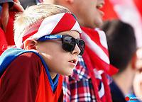 Feb 2, 2019; San Jose, CA, USA; A USA fan during the second half of the international friendly against Costa Rica at Avaya Stadium. Mandatory Credit: Kelley L Cox-USA TODAY Sports