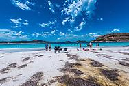 Hell Fire Bay Australia--February 9, 2018. Tourists going for a swim at Hell Fire bay in Australia. Editorial Use Only.