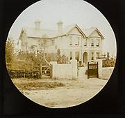 Newly built large suburban mansion house c 1900, England, UK
