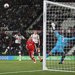 Darren Bent of Derby County (L) misses a goal scoring opportunity - Mandatory by-line: Jack Phillips/JMP - 09/08/2016 - FOOTBALL - iPro Stadium - Derby, England - Derby County v Grimsby Town - EFL Cup First Round