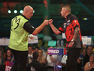 Michael van Gerwen during the PDC BetVictor World Matchplay Darts 2021 tournament at Winter Gardens, Blackpool, United Kingdom on 23 July 2021.