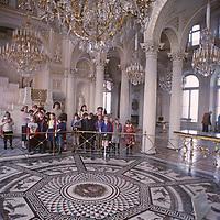 Russian schoolchildren visit the Czar's Winter Palace in Saint Petersburg, Russia.