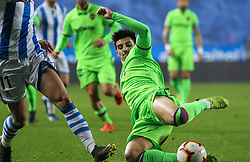 March 15, 2019 - San Sebastian, Guipuzcoa, Spain - Chema R. of Levante in action during La Liga Spanish championship, , football match between Real Sociedad and Levante, March 15th, in Anoeta Stadium in San Sebastian, Spain. (Credit Image: © AFP7 via ZUMA Wire)