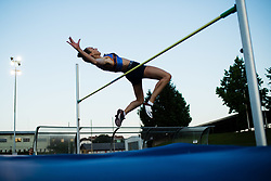Lia Apostolovski competes in High jump during day one of the 2020 Slovenian Cup in ZAK Stadium on July 4, 2020 in Ljubljana, Slovenia. Photo by Grega Valancic / Sportida