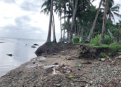 AU_1379238 - *EXCLUSIVE* SUVA, FIJI  - What Meghan and Harry didn't see - clothing, rubbish and discarded items on the beach, abandoned white goods and other rubbish line the coastline in the poverty stricken areas of Fiji.<br /> <br /> Pictured: Rubbish litters the coastline of Fiji<br /> <br /> BACKGRID Australia 24 OCTOBER 2018 <br /> <br /> Phone: + 61 2 8719 0598<br /> Email:  photos@backgrid.com.au