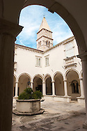 The Cloisters of St Francis monastry - Piran Slovenia. Visit our PHOTO COLLECTIONS OF SLOVANIAN  HISTOIC PLACES for more photos to download or buy as wall art prints https://funkystock.photoshelter.com/gallery-collection/Pictures-Images-of-Slovenia-Photos-of-Slovenian-Historic-Landmark-Sites/C0000_BlKhcYWnT4Sites/C0000qxA2zGFjd_k