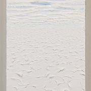 "Title: Cloud, Snow and Salt Desert<br /> Artist: Shane Han<br /> Date: 2015<br /> Medium: Oil on canvas<br /> Dimensions: 10 x 20""<br /> Status: On loan<br /> Location: HLC 4.2110.07, Roberta Weston's Offce"