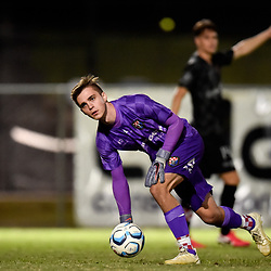 BRISBANE, AUSTRALIA - NOVEMBER 3: Joshua Langdon of the Knights in action during the NPL Queensland Senior Mens Round 9 match between Eastern Suburbs FC and Gold Coast Knights at Heath Park on November 3, 2020 in Brisbane, Australia. (Photo by Patrick Kearney)