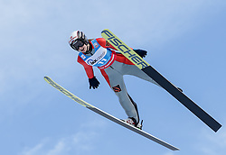 30.01.2016, Normal Hill Indiviual, Oberstdorf, GER, FIS Weltcup Ski Sprung Ladis, Bewerb, im Bild Ksenia Kablukova (RUS) // Ksenia Kablukova of Russian Federation during her Competition Jump of FIS Ski Jumping World Cup Ladis at the Normal Hill Indiviual, Oberstdorf, Germany on 2016/01/30. EXPA Pictures © 2016, PhotoCredit: EXPA/ Peter Rinderer