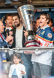 15.04.2016, Kapitelplatz, Salzburg, AUT, EBEL, Meisterfeier EC Red Bull Salzburg, im Bild Matthias Trattnig (EC Red Bull Salzburg) // Matthias Trattnig (EC Red Bull Salzburg) during the Erste Bank Icehockey Liga Championships Party of EC Red Bull Salzburg at the Kapitelplatz in Salzburg, Austria on 2016/04/15. EXPA Pictures © 2016, PhotoCredit: EXPA/ JFK