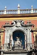 Facade of the Catedral de Malaga on Plaza del Obispo, Malaga, Spain