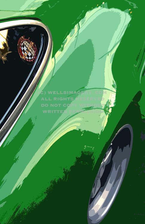 Image of a viper green 1973 Porsche 911 Carrera RS