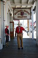 Cowboys at Virginia City, ready for a gun fight