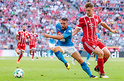 02.08.2017, Allianz Arena, Muenchen, GER, Audi Cup, FC Bayern Muenchen vs SSC Neapel, Spiel um Platz 3, im Bild Dries Mertens (SSC Napoli), Lukas Mai (FC Bayern Muenchen) // during the Audi Cup 3rd place Match between FC Bayern Munich  and SSC Napoli at the Allianz Arena, Munich, Germany on 2017/08/02. EXPA Pictures © 2017, PhotoCredit: EXPA/ JFK
