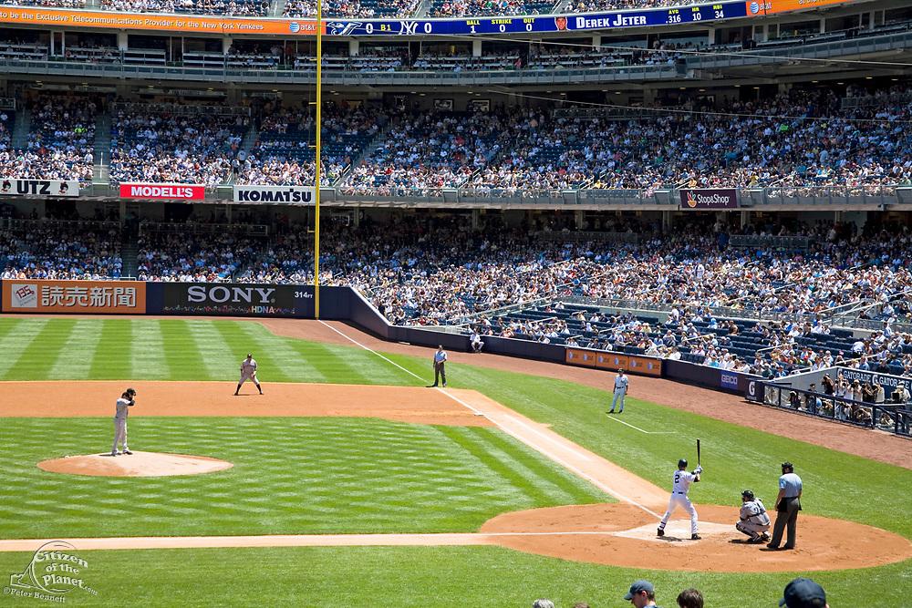 Derek Jeter at bat, Yankee Stadium (New), The Bronx, New York City, USA