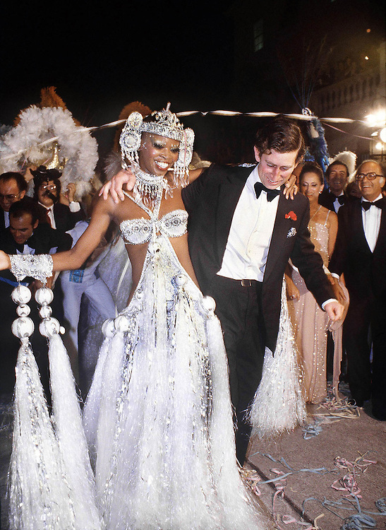 Prince Charles,Prince of Wales dancing the samba at a party in Rio de Janeiro, Brazil in 1979. Photographed by Terry Fincher