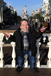 Warwick Davis in Disneyland Park in front of Sleeping Beauty Castle during the launch of Star Wars: Season Of The Force at Disneyland, Paris on January 21, 2017 in Disneyland Paris, France. Photo by Jon Furniss/Disney/ABACAPRESS.COM