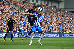15 October 2017 -  Premier League - Brighton and Hove Albion v Everton - Kevin Mirallas of Everton in action with Bruno Saltor of Brighton and Hove Albion - Photo: Marc Atkins/Offside