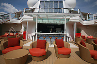 Celebrity Silhouette. Celebrity cruises' new ship launched in Hamburg 21st July 2011..Interior feature photos..Pool Bar..