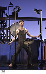 Drums of all descriptions are cleverly organised on scaffolding so that seven distinctly different dance scenes can unfold below. With incredible exuberance the movement and rhythm become flawlessly intertwined as the artists explore the questions: How does a percussionist dance? How does the body of a dancer sound?..Echoa is an unexpected dance experience in which we also see the dance with our ears. Sometimes as gentle as a whisper or as noisy as a carnival, it never lacks in spirit or fantasy. A truly delightful attack on the senses - a show for music and dance lovers of all ages.  From Arcosm Company of France.