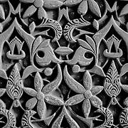 Carved stone pattern, Granada, Spain (December 2006)