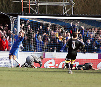 Photo: Mark Stephenson.<br /> Chasetown v Cardiff City. FA Cup Third Round. 05/01/2008.<br /> Chasetown's go 1-0 up with a own goal