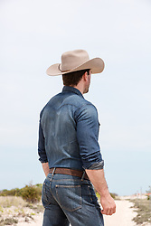 cowboy with a great ass outdoors