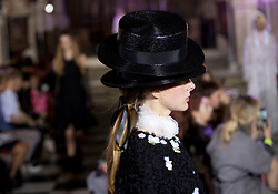 Models on the catwalk during the Ryan LO London Fashion Week SS18 show held at St Sepulchre-without-Newgate Church, London.