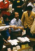 Broker on the floor on New York City Stock Exchange.