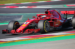 March 6, 2018 - Barcelona, Catalonia, Spain - the Ferrari of Sebastian Vettel during the Formula 1 tests at the Barcelona-Catalunya Circuit, on 06th March 2018 in Barcelona, Spain. (Credit Image: © Joan Valls/NurPhoto via ZUMA Press)