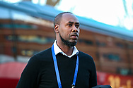 Trinidad and Tobago Manager Dennis Lawrence arrives ahead of the Friendly European Championship warm up match between Wales and Trinidad and Tobago at the Racecourse Ground, Wrexham, United Kingdom on 20 March 2019.