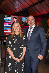 28 January 2020 - CEO of Costa Jill Mcdonald and Neil Lake at the Costa Book Awards 2019 held at Quaglino's, 16 Bury Street, London.<br /> <br /> Photo by Dominic O'Neill/Desmond O'Neill Features Ltd.  +44(0)1306 731608  www.donfeatures.com