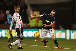 February 13, 2019 - Sheffield, South Yorkshire, United Kingdom - SHEFFIELD, UK 13TH FEBRUARY Lewis Wing of Middlesbrough and Martin Cranie of Sheffield United  during the Sky Bet Championship match between Sheffield United and Middlesbrough at Bramall Lane, Sheffield on Wednesday 13th February 2019. (Credit: Mark Fletcher | MI News) (Credit Image: © Mi News/NurPhoto via ZUMA Press)