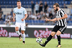 August 13, 2017 - Rome, Italy - Gonzalo Higuain of Juventus during the Italian Supercup Final match between Juventus and Lazio at Stadio Olimpico, Rome, Italy on 13 August 2017. (Credit Image: © Giuseppe Maffia/NurPhoto via ZUMA Press)