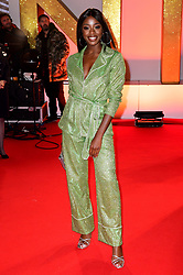 AJ Odudu attending the National Television Awards 2019 held at the O2 Arena, London. PRESS ASSOCIATION PHOTO. Picture date: Tuesday January 22, 2019. See PA story SHOWBIZ NTAs. Photo credit should read: Ian West/PA Wire